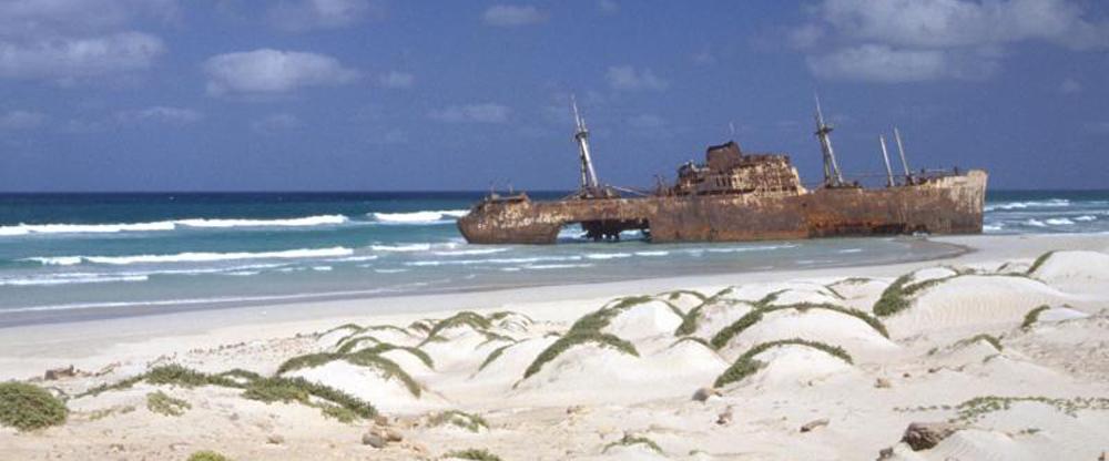 Vrak lodi u ostrova Boa Vista